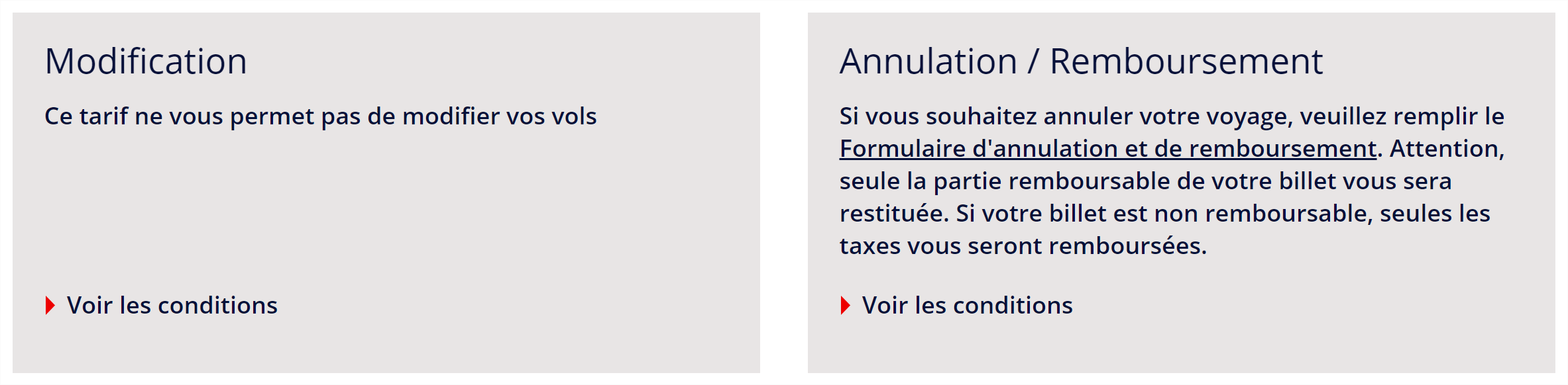 annulation modification air france