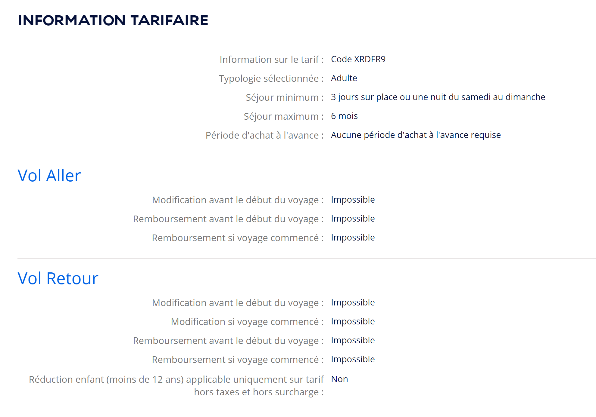 conditions d'annulation modification air france