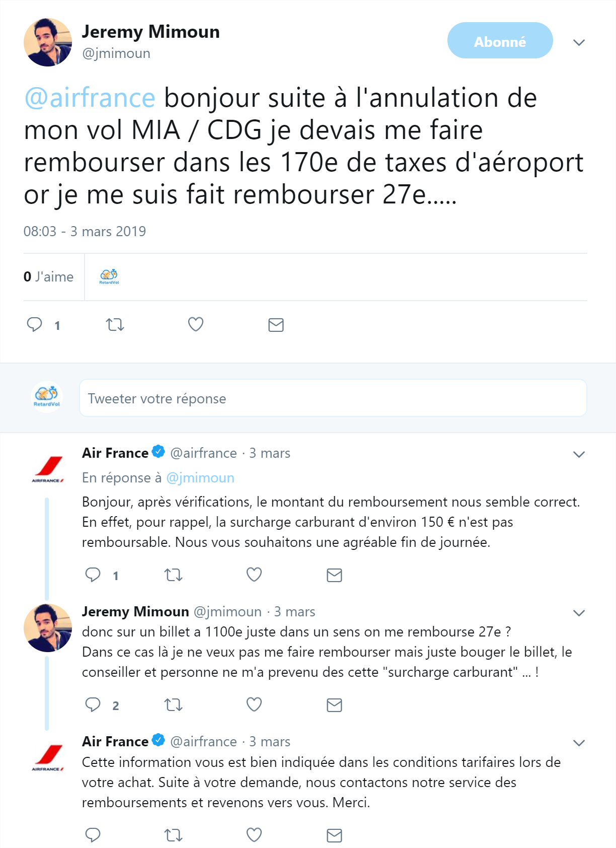 support air france taxes et surcharge