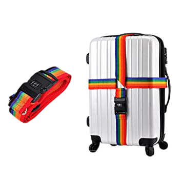 sangle bagage valise arc en ciel